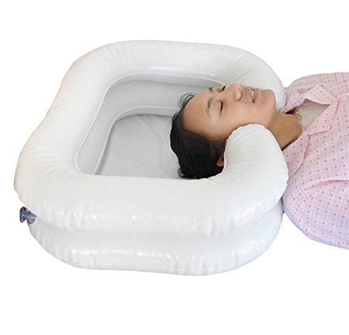 XYLUCKY PVC Aufblasbare Shampoo Becken Badehilfe - Waschen Haar im Bett