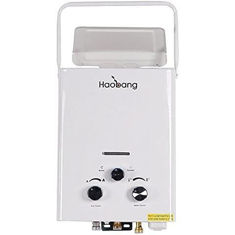 Haobang JSD12-J6 6L 12W De alta eficiencia Calentador de agua eléctrico LPG 280Pa (NG)
