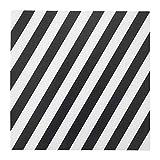 Tischset Streifen schwarz weiß 4er Set zusammengebaut Größe: L 37 cm Breite 37 cm Material Polypropylen Kunststoff