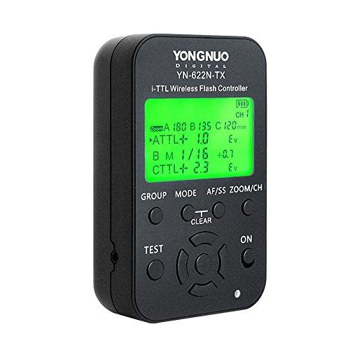 Yongnuo YN-622N-TX i-TTL kabellose Funkauslöser für Nikon D70, D70S, D80, D90, D200, D300S, D600, D700, D800, D3000, D3100, D3200, D5000, D5100, D5200,...