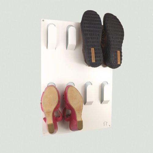 The Metal House Designer à Fixation Murale à Chaussures Rack de Stockage en Blanc par la Maison de métal