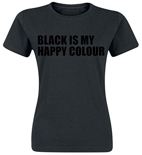 Black Is My Happy Colour Maglia donna nero L