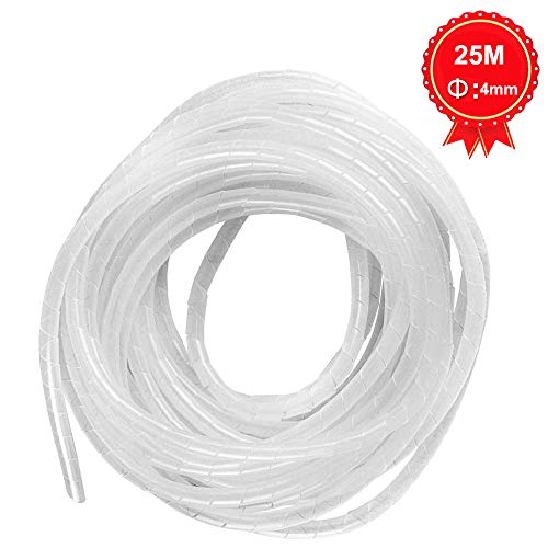 GTIWUNG 25mx4mm Organizador de Cables en Espiral