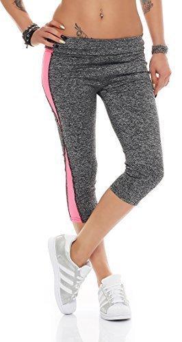 Fashion Design - Legging de sport - Femme Gris Gris EG7-62 pink