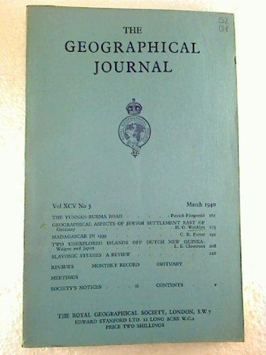 The Geographical Journal - Vol. 95, No. 3 / March 1940 (Einzelheft / single copy)