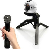 Le trépied et stabilisateur 2 en 1 d'igadgitz est l'accessoire idéal pour votre appareil photo. Il ne pèse que 85 grammes et sa taille de poche le rend facile à transporter.  Peut être utilisé comme un mini trépied de table avec tête de trépied verro...