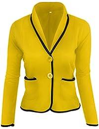 ZKOO Blázer Abrigo Mujer Blazer Color Sólido Americana Blazer Traje Blazer  De Slim Chaqueta del Traje 1a6d7d0c04b6