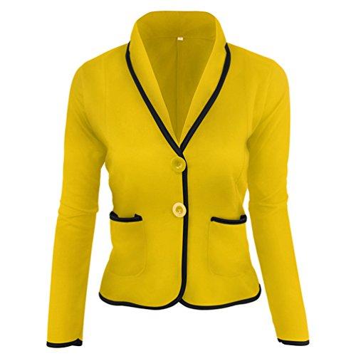 ZKOO Damen Kurz Blazer Jäckchen Mantel Anzug Blazer Jacke Kurzjacke Langarm Business Slim Taillierter Freizeit Einfarbig Anzug (Mädchen Blazer)