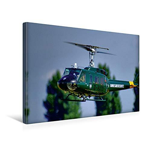 Premium Textil-Leinwand 45 cm x 30 cm quer Bell UH-1 D