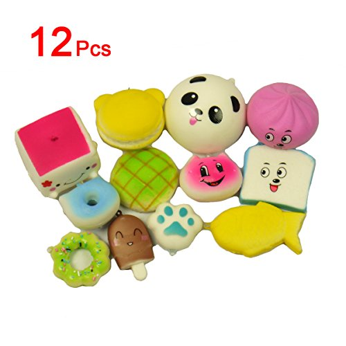 ii Mini weiche Foods Panda Brot Brötchen Toast Multi Donuts Phone Straps Charme-Geschenk TO379 ()