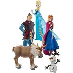 Frozen - Bumper Pack, set con 5 figuras, Bullyland 12220
