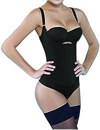 Camellias Donna Seamless Controllo Shapewear Aprire Busto Bodysuit Body Corsetti Shaper Black&Beige