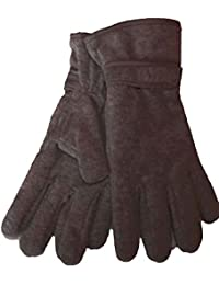 New Ladies Thermal Thinsulate Lined Warm Winter Fleece Touch Strap Gloves