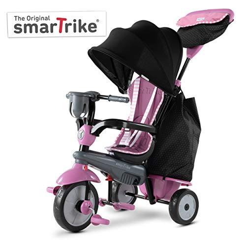 SMARTRIKE- Swirl Triciclo de bebé 4 en 1, Gris Rosa, Color Pink Grey (6502202)