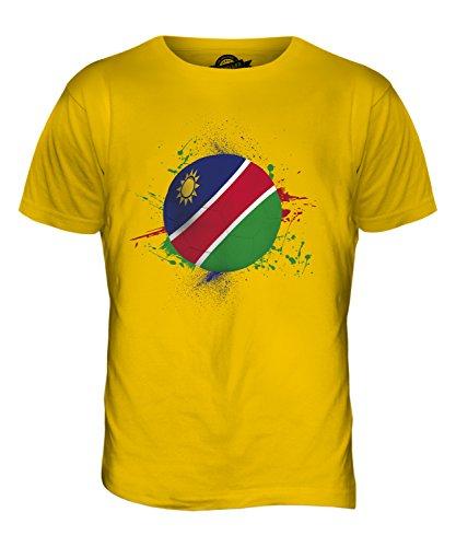 CandyMix Namibia Fußball Herren T Shirt Dunkelgelb