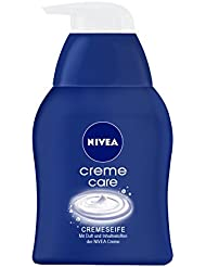 NIVEA 3er Pack Flüssige Creme-Seife, 3 x 250 ml Spender, Creme Care