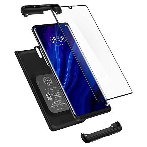 Spigen L37CS25731 Thin Fit 360 Kompatibel mit Huawei P30 PRO Hülle, 360° R&umschutz-Schale mit Gratis Panzerglas Handyhülle Schutzhülle Case - Schwarz