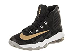 Nike Mens Air Max Audacity 2016 Black/MetallicGold/Dark Grey Basketball Shoe 9 Men US