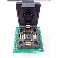 allsocket QFP64–0.5QFP64TQFP64QFP64a DIP64adaptador de programación fpq-64–0.5–060.5mm Pitch 10x 10mm IC adaptador de soldadura versión de concha de dimensión (QFP64–0.5-acl)