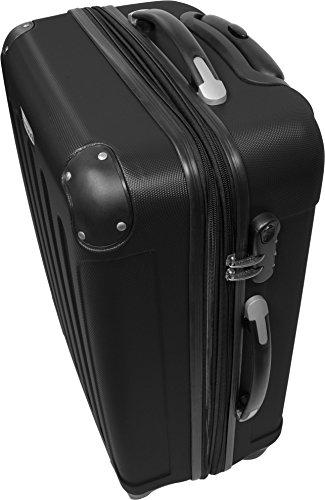 normani® Hartschalen-Kofferset aus ABS - Trolley, Koffer, Reisekoffer Farbe SCHWARZ -