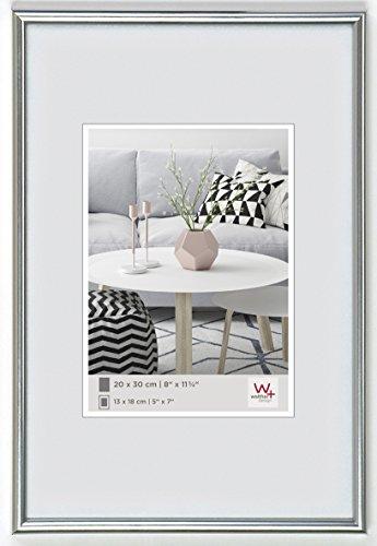 walther design KS130H Galeria Kunststoffrahmen im Format 21 x 30 cm, silber