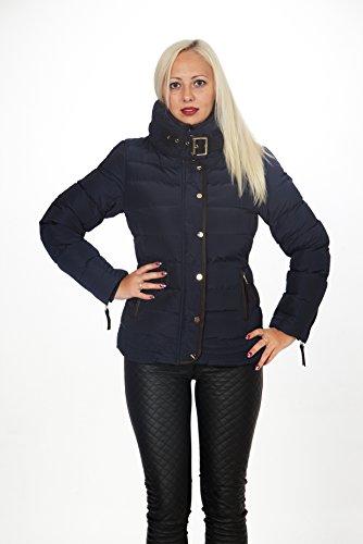 Unbekannt - Blouson - Veste damassée - Femme Bleu