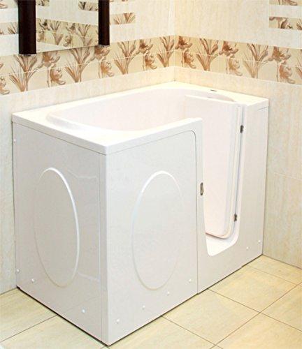 Preisvergleich Produktbild Senioren Sitzbadewanne ELEGANCE 115x68x90 cm Rechts Seniorenbadewanne Sitzwanne Badewanne mit Tür