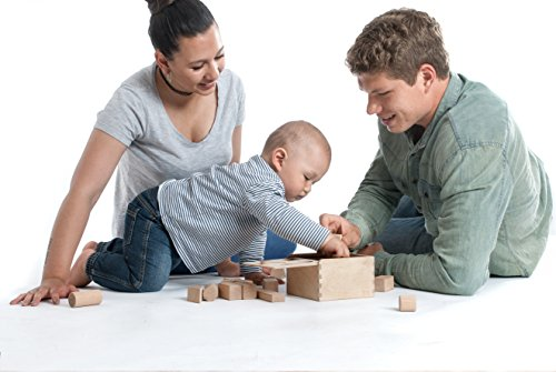CreaBLOCKS 2-in-1 Steckbox / Formensortierspiel / Sortierbox Baby – Bauklötze - 3
