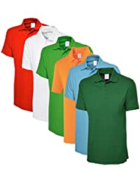 Lime's Multi Color Polo Neck T Shirts For Men ( Pack Of 6 )