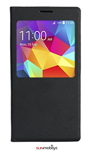 Sun Mobisys™;Samsung Galaxy S5 G900 Flip Cover; Flip Cover for Samsung Galaxy S5 G900 BLACK  available at amazon for Rs.249