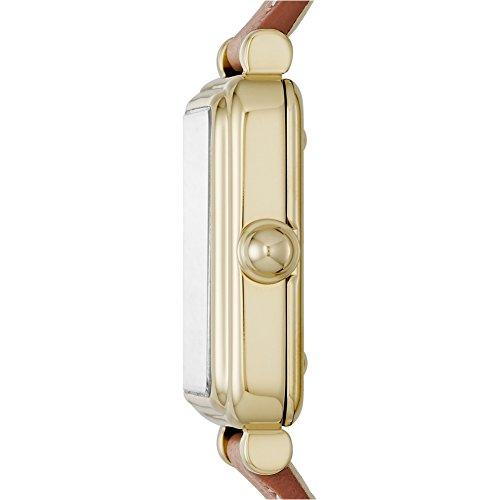 Marc Jacobs Damen-Armbanduhr Analog Quarz One Size, silberfarben, braun