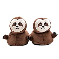 Elephant Brand 3D Slipper (Sloth Brown Combo, One Size)