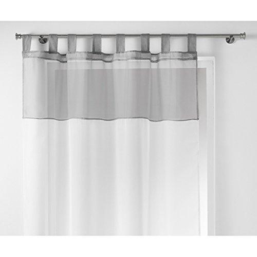 Pannelli con passanti 140x240cm veli bicolore grigio - les douces nuits de maé