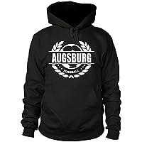 shirtloge - AUGSBURG - Fussball Lorbeerkranz - Fan Kapuzenpullover - Größe S - 3XL