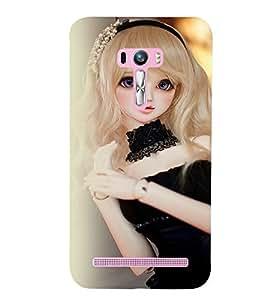 Printvisa Baby Doll Dressed Up In Black Back Case Cover for Asus Zenfone Selfie::Asus Zenfone Selfie ZD551KL