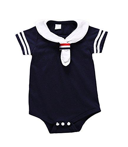Kostüm Mädchen Matrose Marine - Anywow Unisex Neugeborenes Baby Matrose Spielanzug Säugling Mädchen Jungen Strampler Marine Navy Bodysuit Onesie Overall