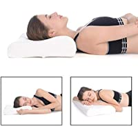 SHOPPOSTREET Orthopaedic Memory Foam Pillow Neck and Back Support Pillow Cervical Pillow for Neck Pain with Removable Zipper Cover Side Sleepers Neck Pillow for Pain Relief (2)