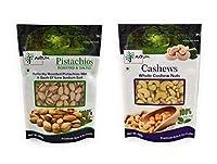 AXIUM Combo 500gm Each (Pack of 2) Pistachios, Cashews