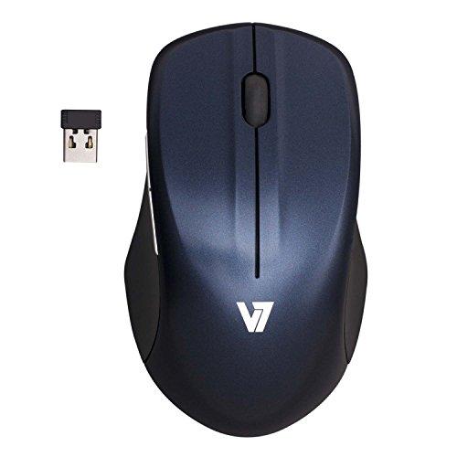 V7 MV5000202-8EB Kabellose Blue Trace Maus (3-Tasten, 2,4GHz, 1600 dpi) blau schwarz -