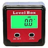 HHTEC Winkelmesser Neigungsmesser Inklinometer Digitaler LCD Wasserdicht Bevel Box Winkelmessgerät Wasserwaage Level Box integrierte Magnete