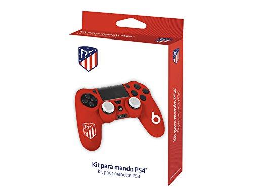Subsonic – Kit de customisation pour manette playstation 4 / PS4 Slim / PS4 PRO – Housse en silicone pour manette PS4 avec grips pour joysticks – Licence officielle ATM Atletico de Madrid