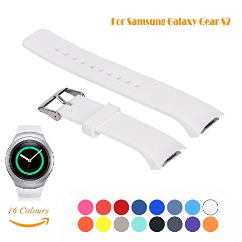 Cyeeson Samsung Gear S2 SM-R720/R730 Smart Watch Replacement Armband Weiche Silikon Adustable Band Gel Wristband Strap Watch Band für Samsung Gear S2 SM-R720/R730 (Groß) (Burch Tory Gelee)