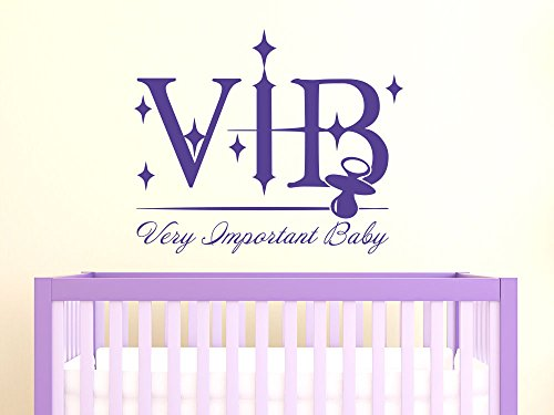 Preisvergleich Produktbild Wandtattoo Aufkleber Tattoo für Kinderzimmer Schriftzug VIB Very Important Baby (60x50cm // 816 Antique White)