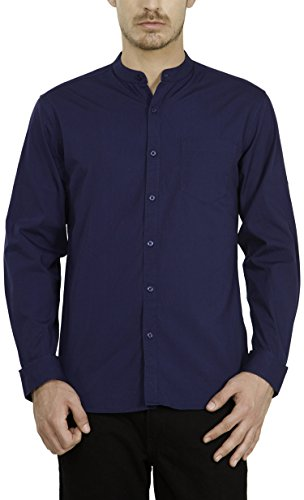 Highlander Men's Casual Shirt (13110001459351_HLSH008865_Large_Petrol Blue)  available at amazon for Rs.399