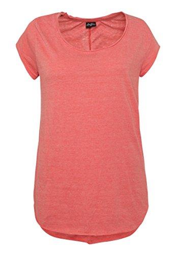 Sublevel Vintage Damen T-Shirt   Elegantes Shirt mit Used Washed Effekt orange S (T-shirt Beach Fit Damen)
