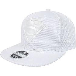 New Era 9Fifty Superman Tonal Logo Weld Optic White Snapback Cap (S-M)