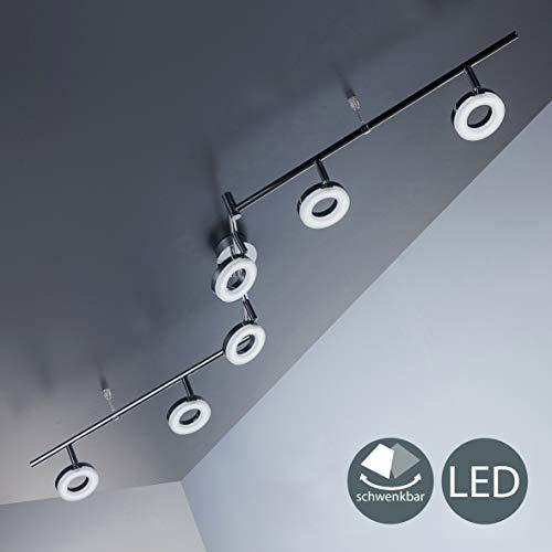 Lámpara LED de techo moderna con focos redondos incl. 6x4W LED 330lm,...
