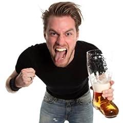 Idea Regalo - OOTB, Bicchiere da Birra a Forma di Stivale XXL, per Circa 2Litri, Vetro Trasparente, 23,4x 17,4x 37,5cm