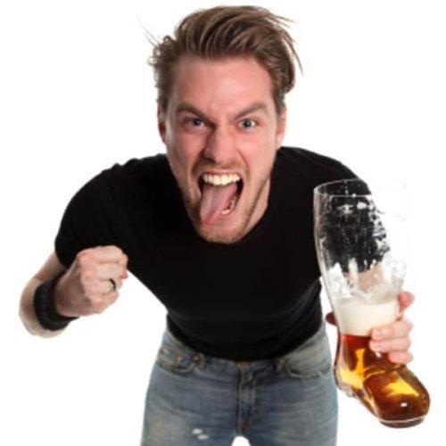 OOTB XXL-Bierglas-Stiefel, für ca. 2 Liter, Glas, Transparent, 23.4 x 17.4 x 37.5 cm