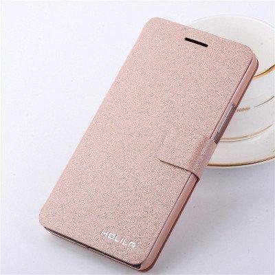 Produktbild Eleoption® Smartphone Schutzhülle Leder Hülle mit Standfunktion und Karte Halter (Samsung Galaxy S6,  Champagner-Rosa)